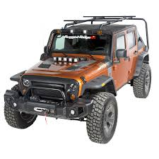 lowered 4 door jeep wrangler jeep wrangler sherpa roof rack by rugged ridge