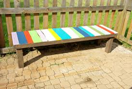 Emily Garden Bench How To Build A Colorful Garden Bench Using Pallets