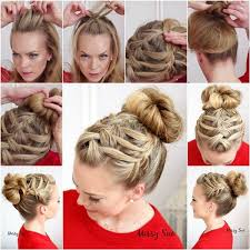put your hair in a bun with braids ideas about braided hairstyles in a bun cute hairstyles for girls