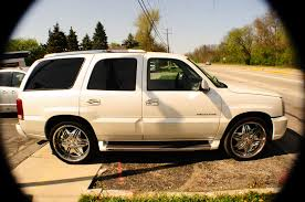 2003 cadillac escalade white tv used suv