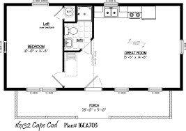 cape cod floor plans with loft 16 x 32 with 5 x 28 porch cabin fever porch