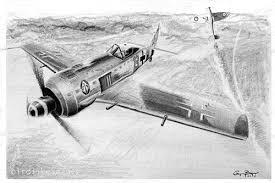 pencil drawing of focke wulf fw 190 focke wulf fw 190