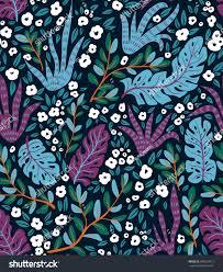 native rainforest plants tropical vector seamless pattern rainforest plants stock vector