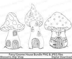 mushroom house digi fairy house clipart fairy house digital