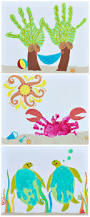 27 best summer crafts images on pinterest footprint crafts kids