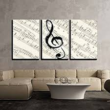 Music Note Wall Decor Amazon Com Note And Piano U0027s Keys In The Paper Wall Art Painting