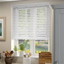 Cotton Roller Blinds Bright White U0026 Chalk Wooden Blind With Tapes 50mm Slat