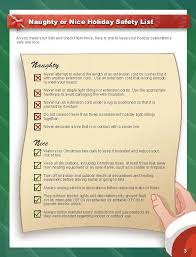 Outdoor Christmas Light Safety - naughty or nice holiday safety list esfi electrical safety