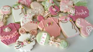 vintage baby shower cookies heart cookies lace cookies