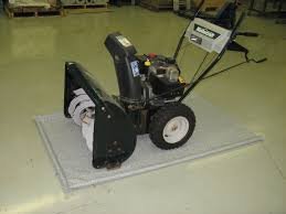 Garage Floor Snow Containment by Kentainmats Snowblowermat Water And Slush Containment Garage