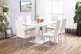 white high gloss table white imperia high gloss dining table set furniturebox