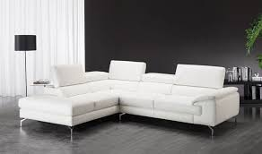 Left Facing Sectional Sofa by Nila A973 Premium Leather Sectional Sofa In White Free Shipping