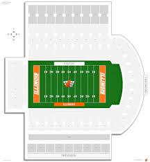 Arizona Stadium Map by Memorial Stadium Illinois Seating Guide Rateyourseats Com
