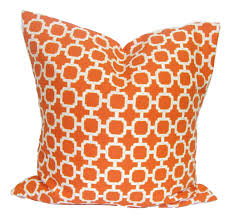 Orange Patio Cushions by Outdoor Pillows Orange Pillow Covers Orange Pillow Orange