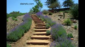 Steep Hill Backyard Ideas Idea For Long Hillside Stairways Landscaping And Design Youtube