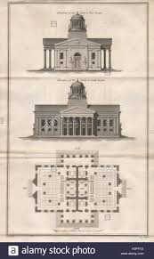 design for marylebone parish church never built elevations