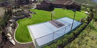 Sports Courts For Backyards Backyard Courts Gym Flooring Snapsports Of Utah