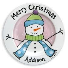 personalized ceramic plates personalized painted merry christmas ceramic plate by