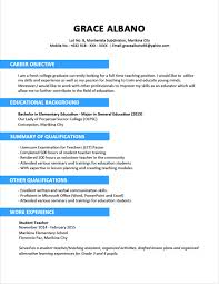 cover letter resume examples format resume format examples for job