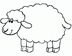 lamb coloring page fablesfromthefriends com
