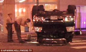 pictured the shocking car wreck which left indiana jones star