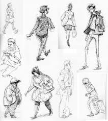 fashion sketches with traditional tools and medium fuel4fashion