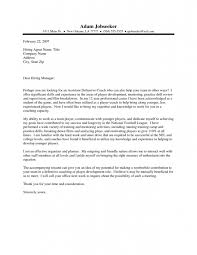sample coaching cover letter sports coach cover letter sample