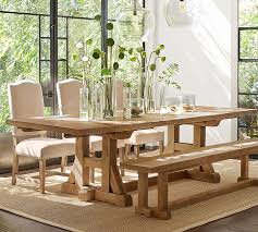 Pine Pedestal Dining Table Extendable Dining Tables Pottery Barn