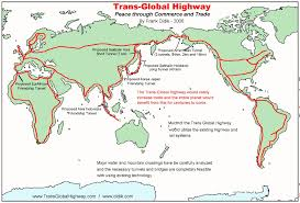 Map Of Usa With Highways by Trans Global Highway A Proposal By Frank X Didik May 2006