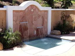 outdoor and patio modern wall fountains outdoor with stones wall