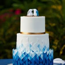 blue wedding modern blue wedding cakes
