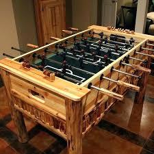 well universal foosball table well universal foosball table wooden table log table cabin decor