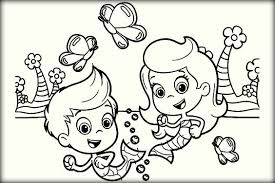 cute bubble guppies coloring pages preschoolers color zini