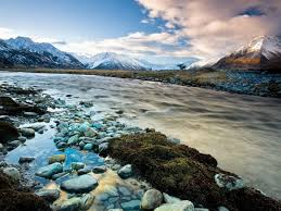River Bed Definition National Park Mount Cook New Zealand River Beautiful Snow Capped