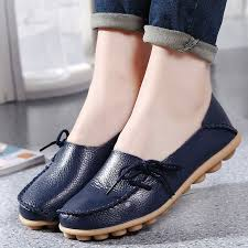 Comfortable Supportive Shoes Aliexpress Com Buy Large Size Leather Women Shoes Flats Mother