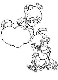 precious moments angel baby coloring pages precious moments