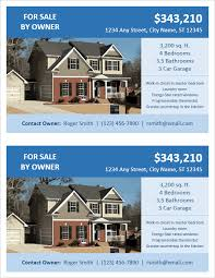 flyer property fsbo flyer template for word