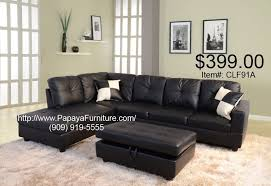 couch and ottoman set black faux leather sectional sofa couch and storage ottoman set cl