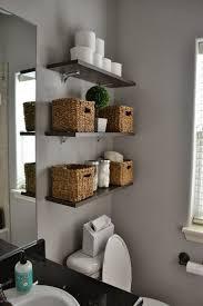 cool bathroom shelves magnificent best ideas on half bath decor