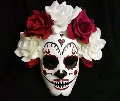 Day Of The Dead White Day Of The Dead Mask 4 Steps