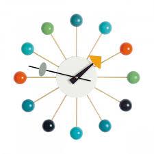 ikarus design clock wanduhr vitra im ikarus design shop wohnen