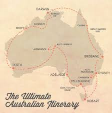 Map A Trip The Ultimate Itinerary For A Trip Around Australia Australia