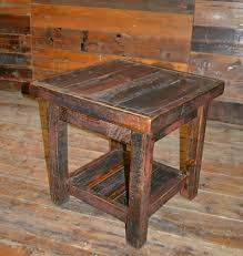 rustic pine end table rough sawn pine open end table rustic furniture mall by timber creek