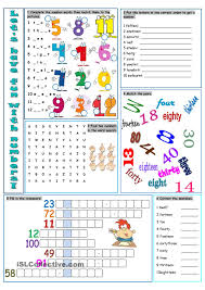 Fun French Worksheets Lets Have Fun With Numbers Esl Pinterest Numbers English