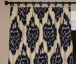 Custom Design Draperies Hand Made Custom Designer Draperies Lacefield Mumbai Indian Blue