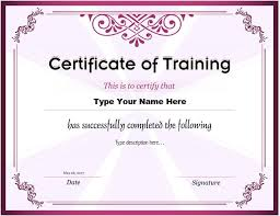 how to make certificate of training with do u0027s u0026 dont u0027s formal