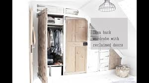 ikea ivar hack ikea ivar hack wardrobe build with reclaimed doors part 2 youtube