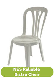 Plastic Bistro Chairs Collection In Miami Bistro Chair 250 White Pvc Stacking Chairs For