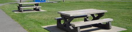 outdoor concrete table and benches bench decoration