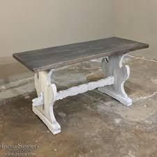 Whitewash Coffee Table Trestle Coffee Table Writehookstudio Com